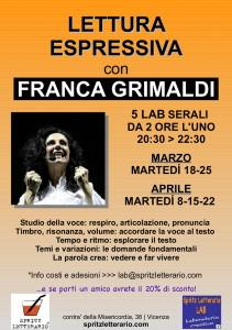LETTURA ESPRESSIVA con FRANCA GRIMALDI
