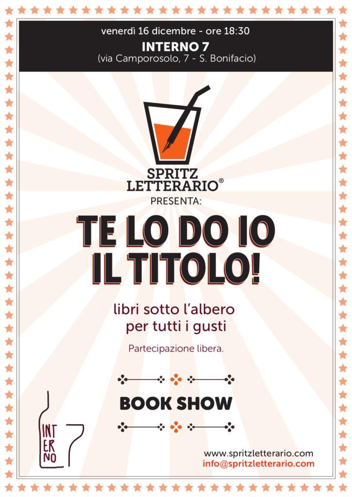 LIBRI SOTTO L'ALBERO – BOOK SHOW CON SPRITZ LETTERARIO